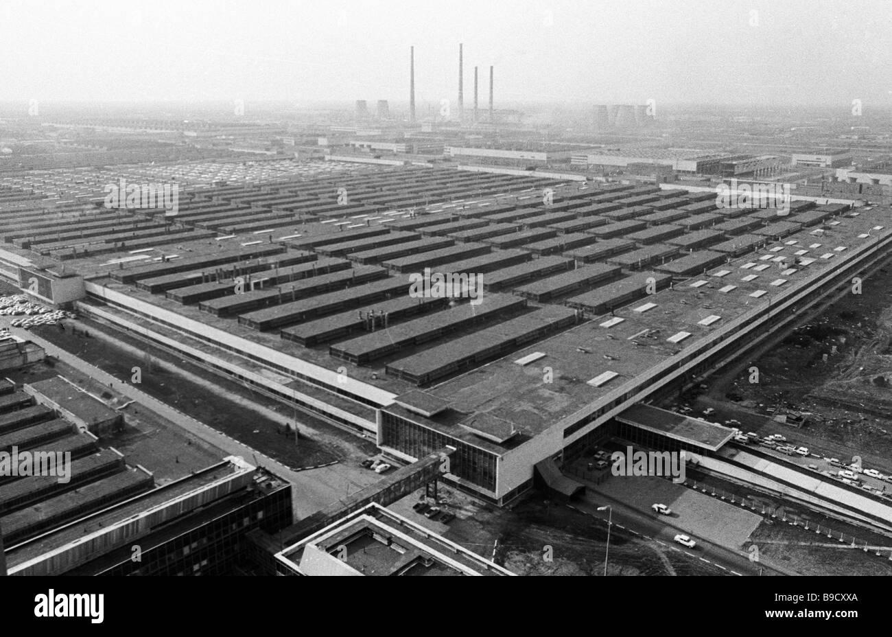 General view of Volga motor works - Stock Image