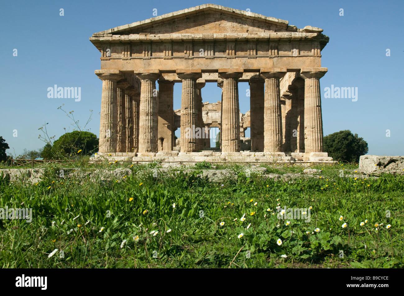 Temple of Neptune Paestum Salerno Italy Stock Photo