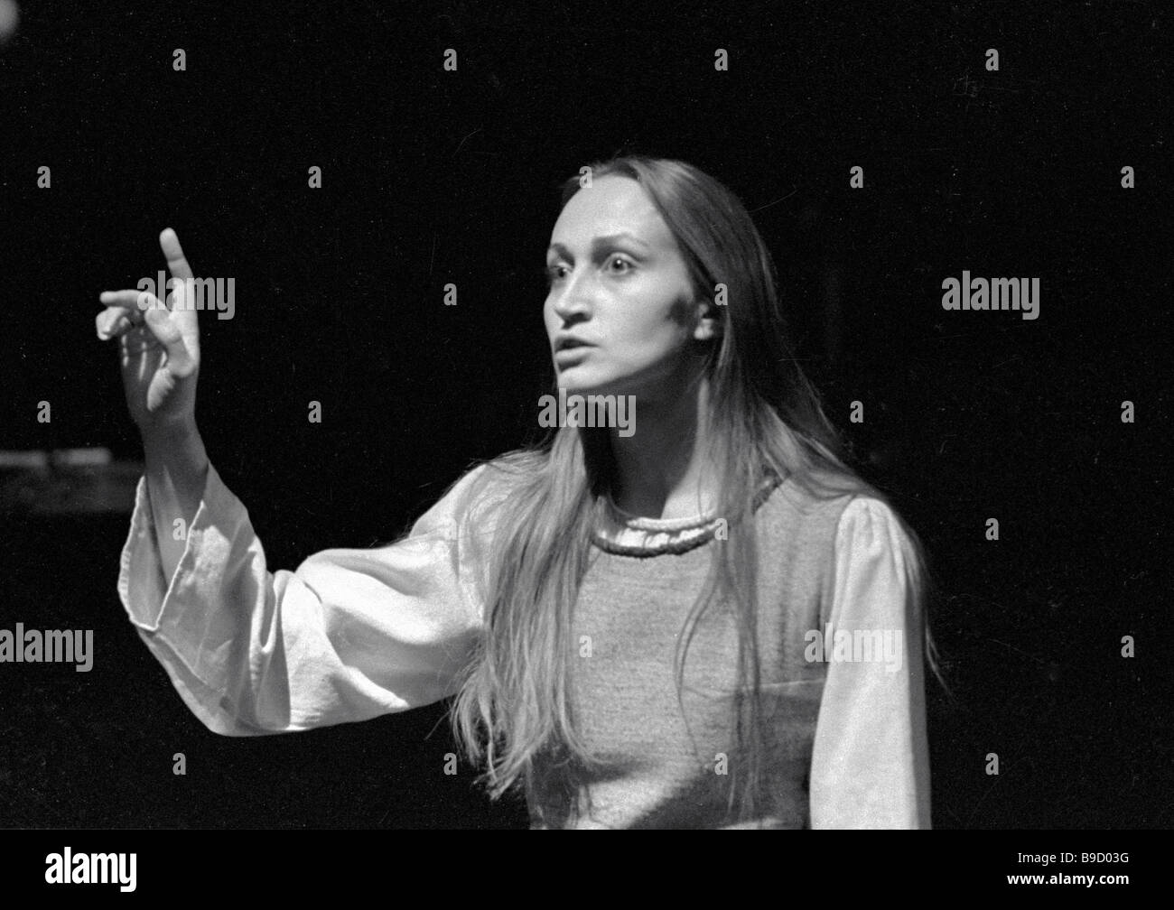 Distinguished artist of the Lithuanian SSR Yurate Onaytite as Tekle in August Stringberg s Creditors staged by the - Stock Image