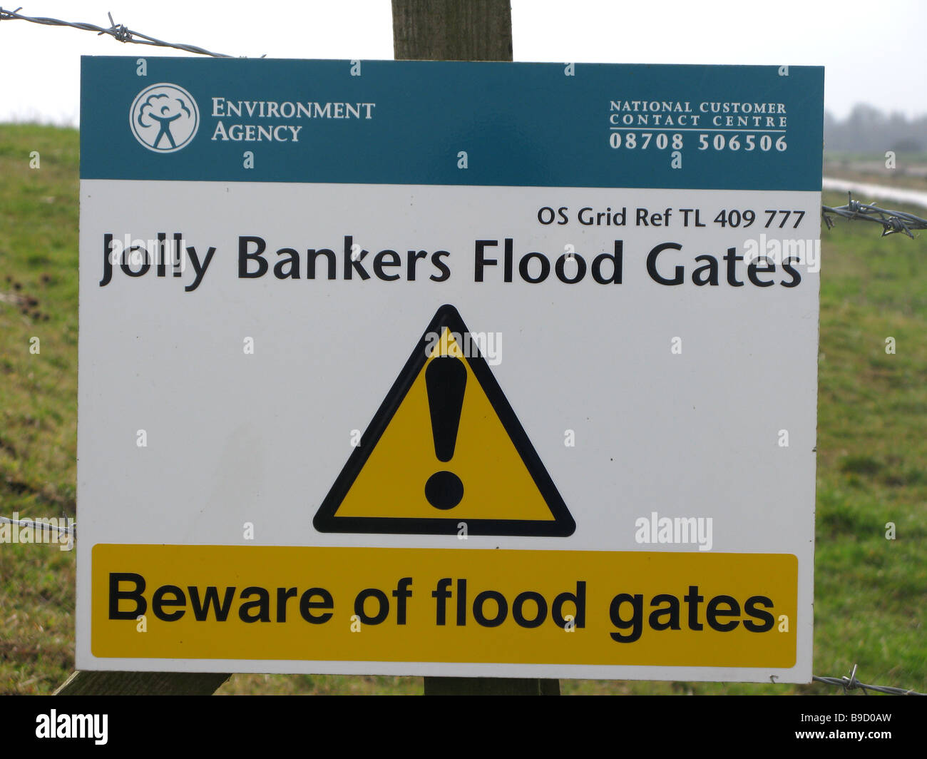'Jolly Bankers Flood Gates' - Stock Image