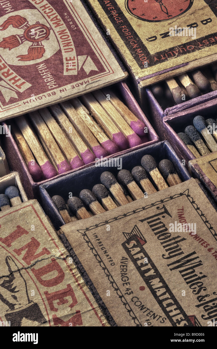 Vintage matchboxes - Stock Image