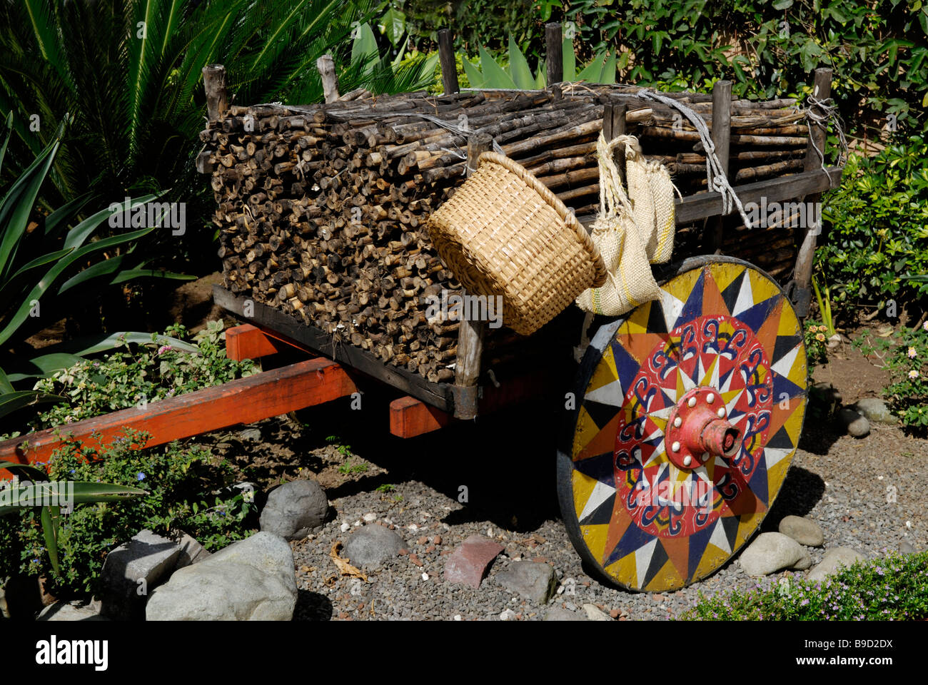Traditional Ox cart, Costa Rica - Stock Image