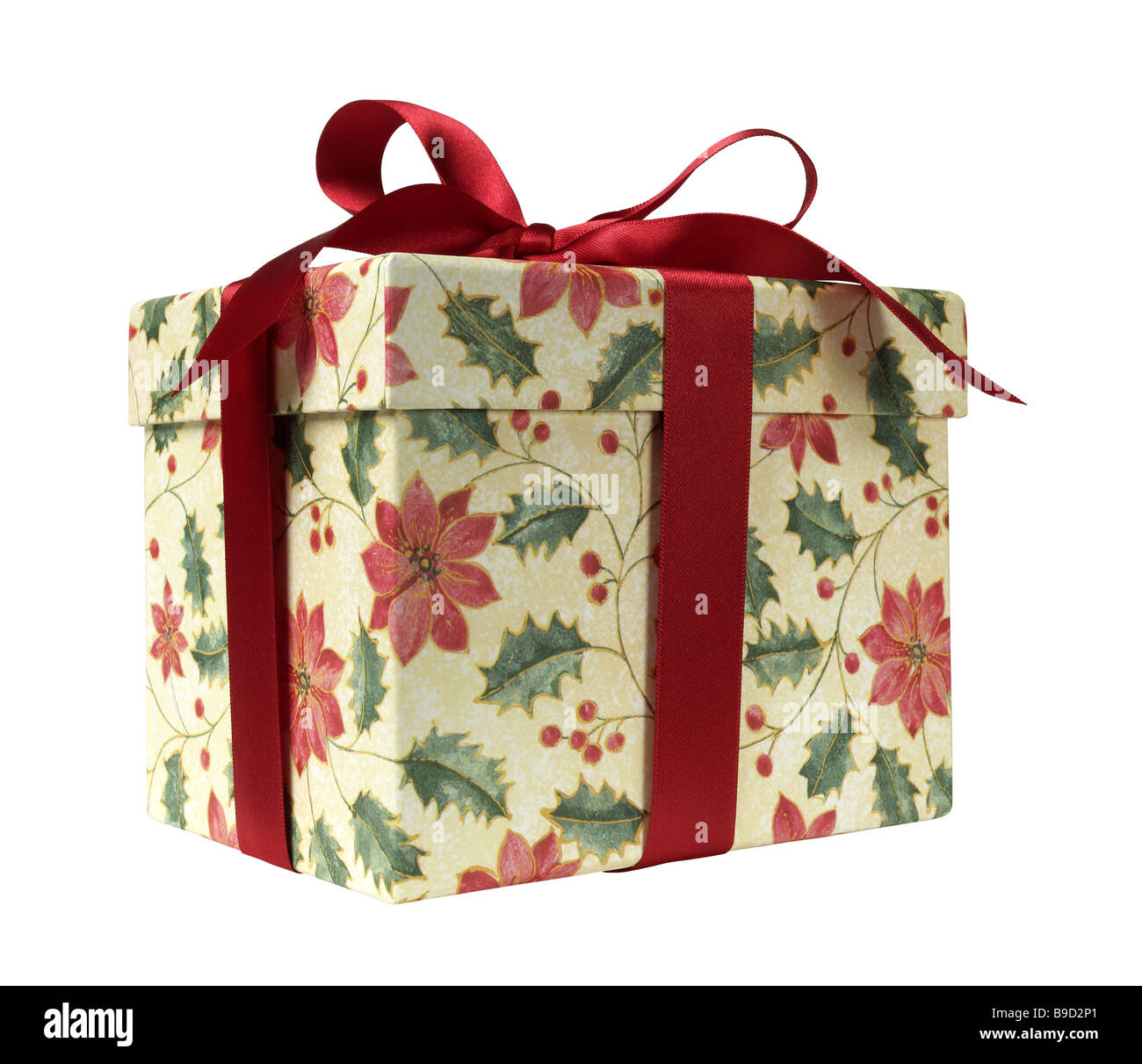 Gift Present Box with bow - Stock Image