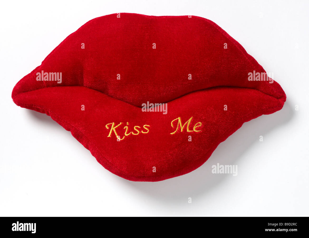 Kiss me red Lips - Stock Image