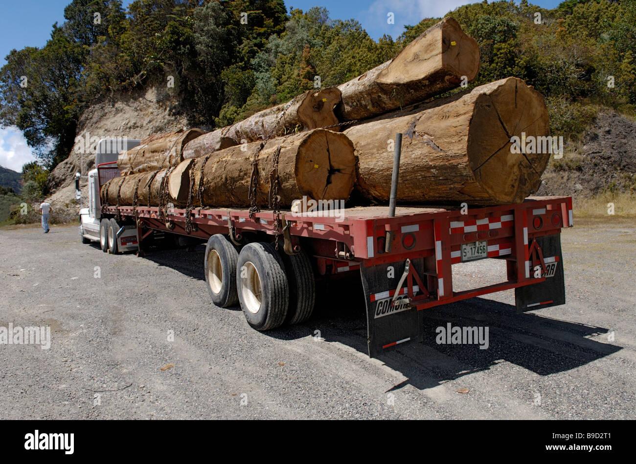 Logging truck, Costa Rica - Stock Image
