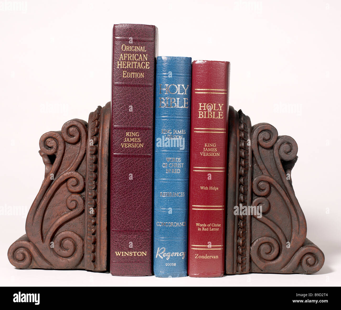 Holy bibles and bookends - Stock Image