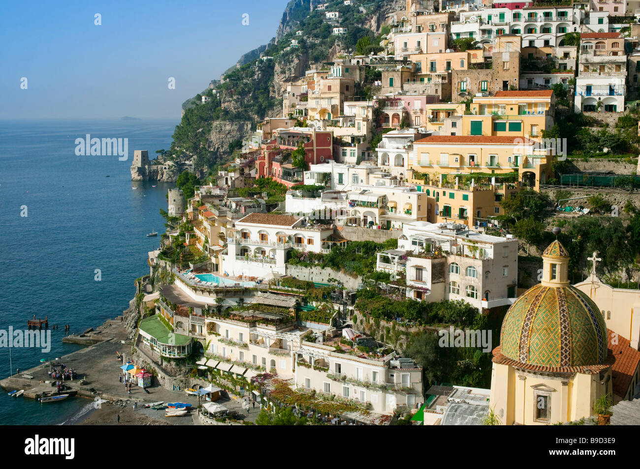 Positano Amalfi coast Salerno Italy Stock Photo