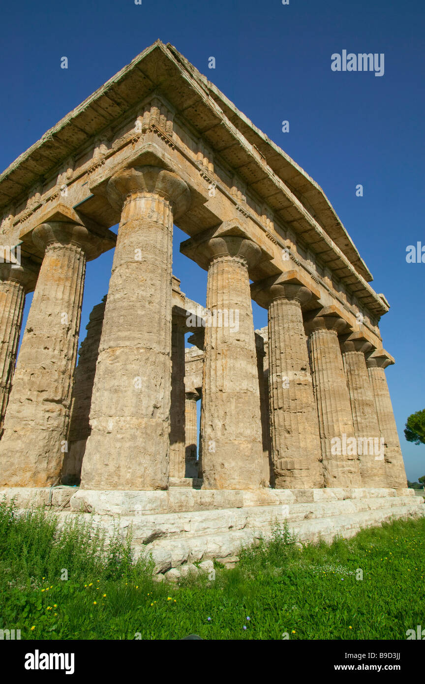 Temple of Neptune Paestum Salerno Italy Stock Photo