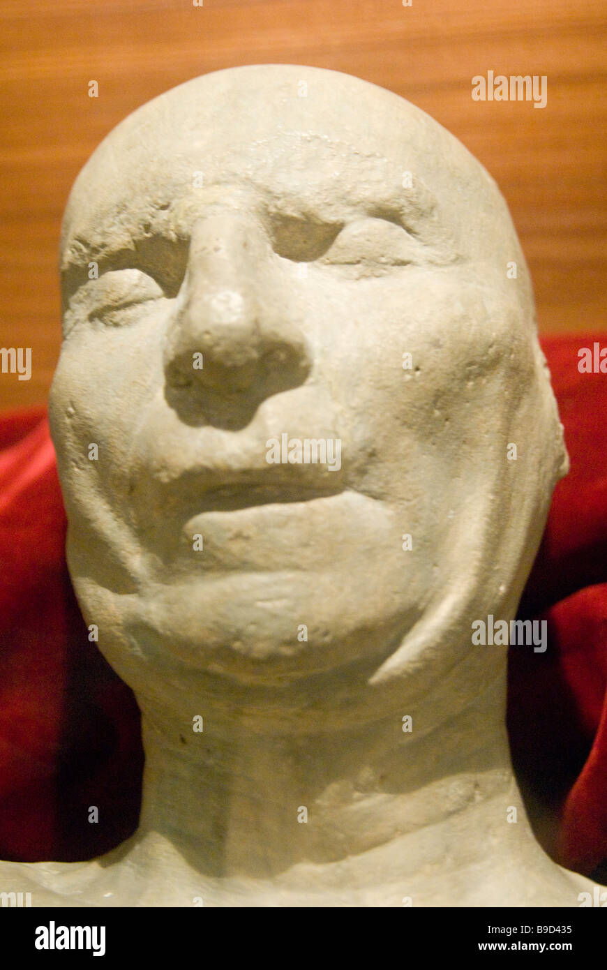 Death mask of Brunelleschi in the Museo dell Opera del Duomo in Florence Italy - Stock Image