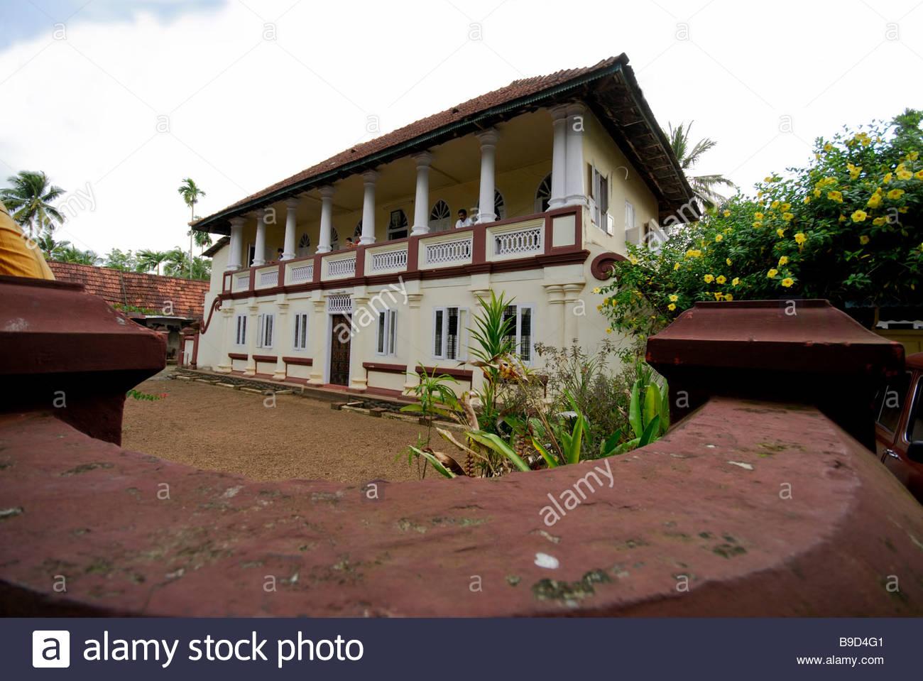 OLD HOUSE IN CHAMPAKKULAM, ALAPPUZHA, KERALA   Stock Image