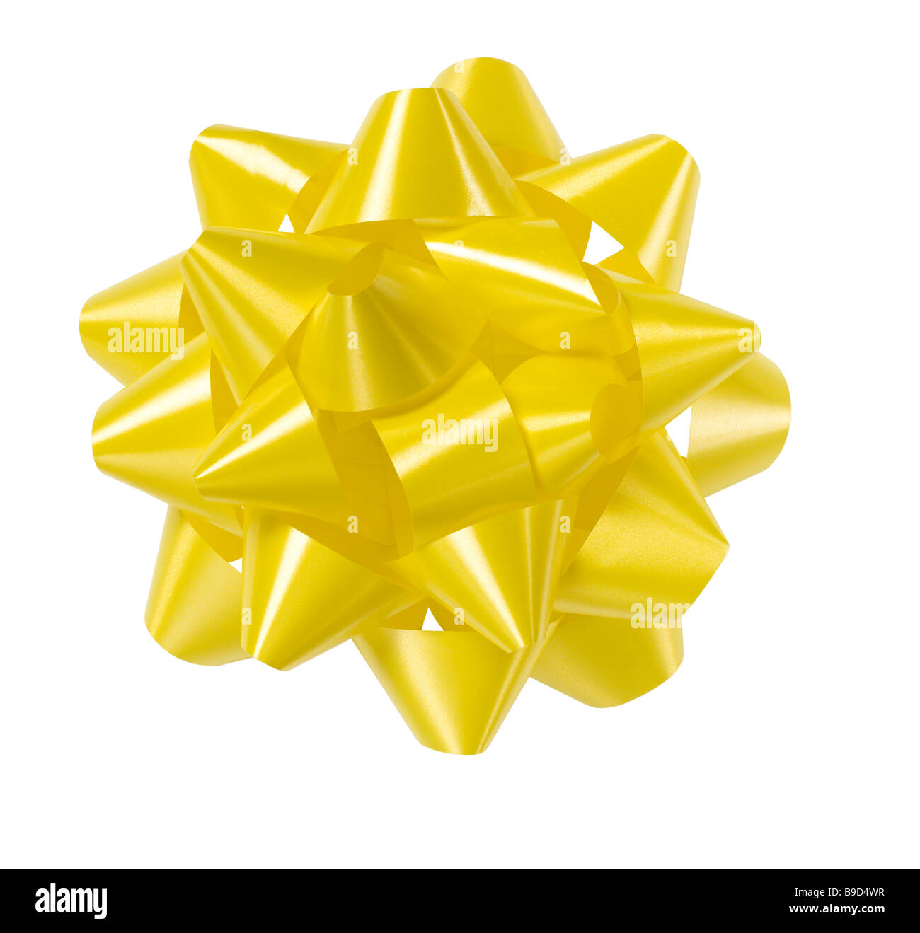 Yellow bow - Stock Image