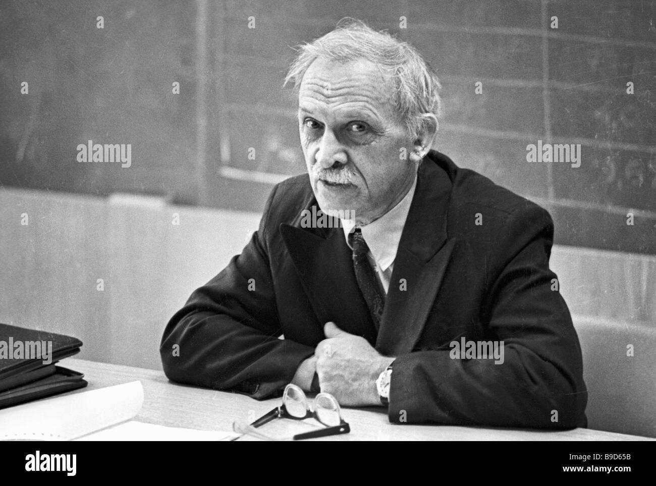 Dr Igor Golovin a creator of the Ogra 4 nuclear facility - Stock Image