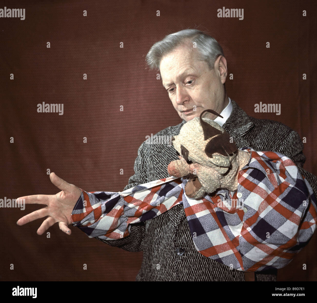 Sergei Obraztsov State Puppet Theatre manager and artistic director People s Actor of the USSR - Stock Image