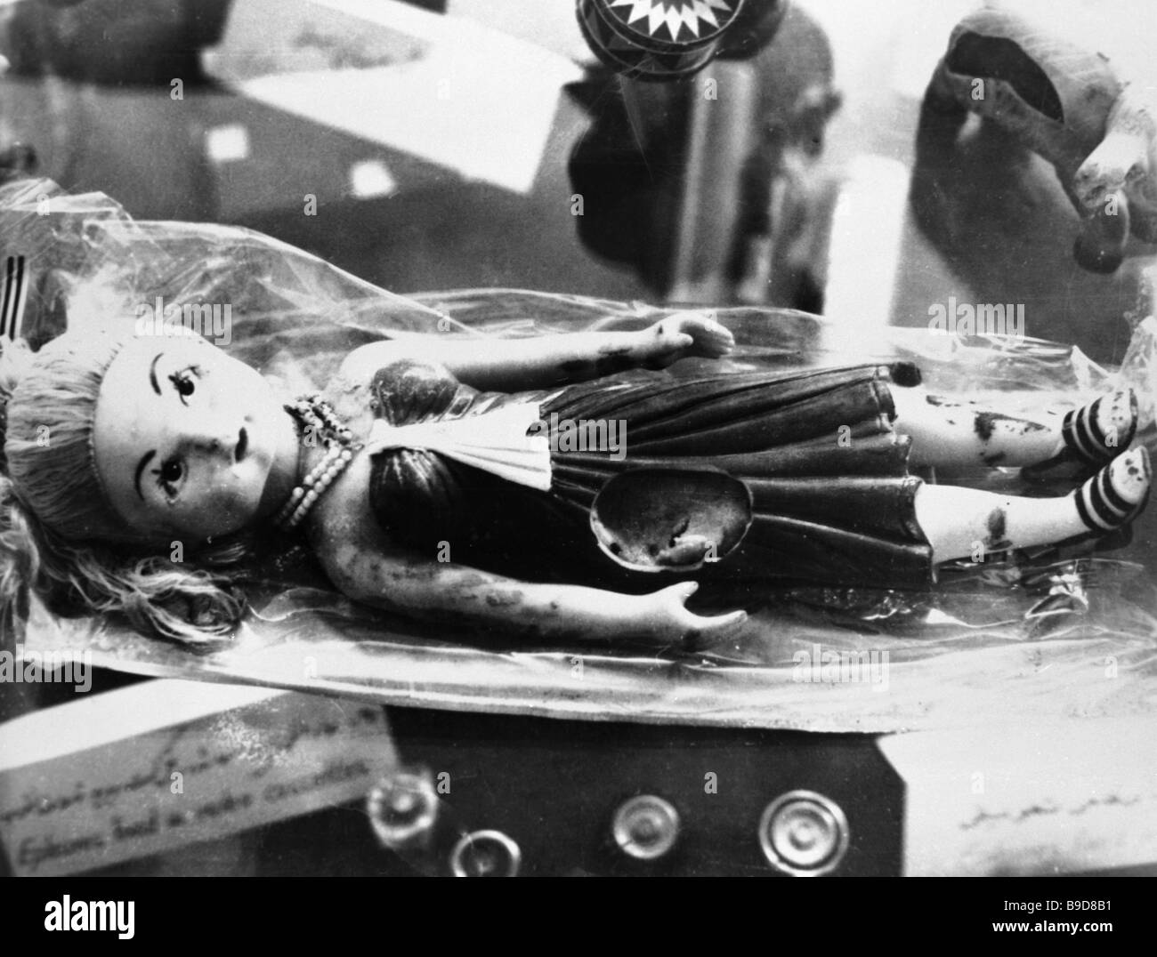 A doll stuffed with explosives by Afghan extremists - Stock Image