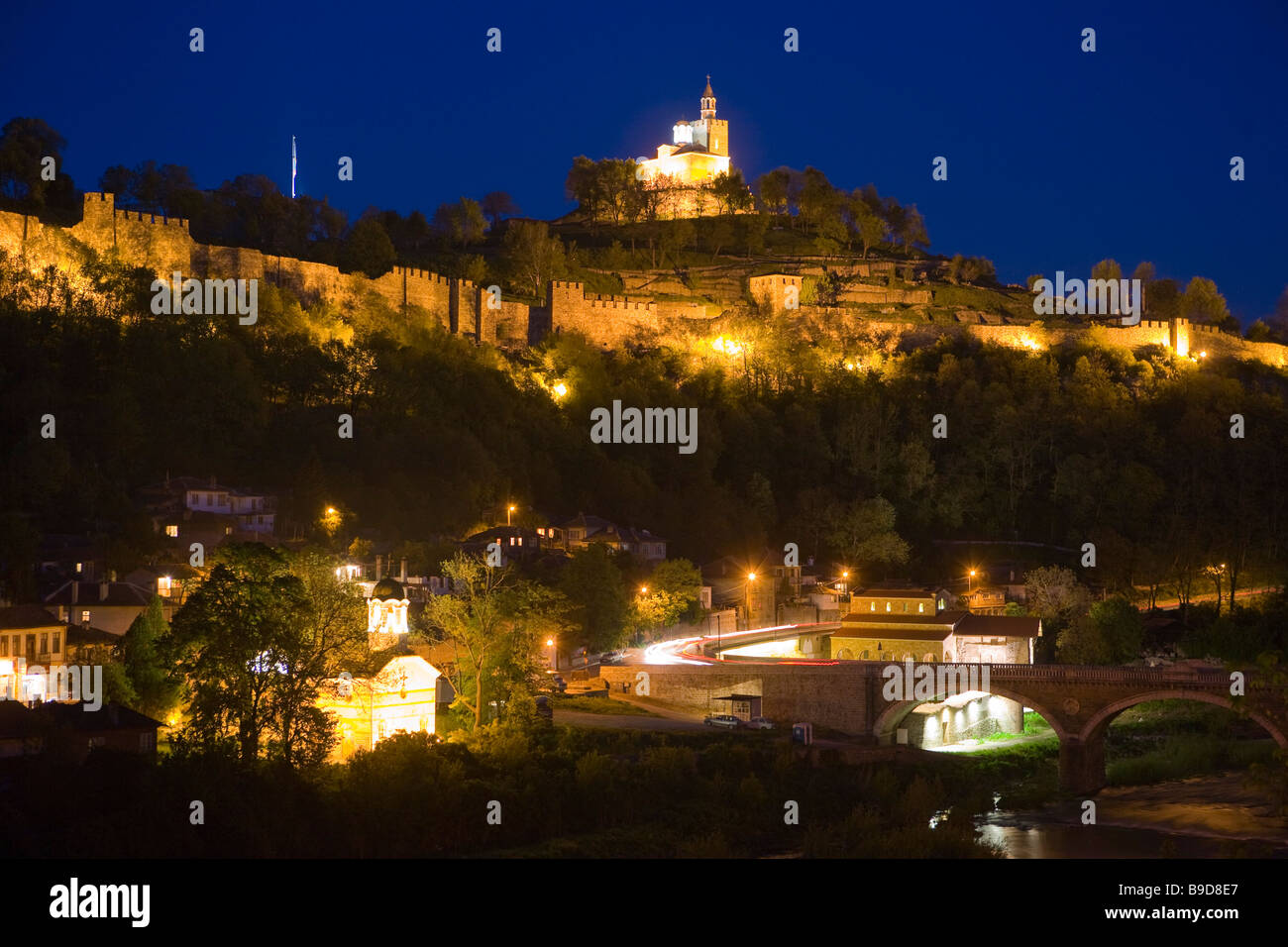 Tsarevets fortress Veliko Tarnovo Bulgaria Stock Photo