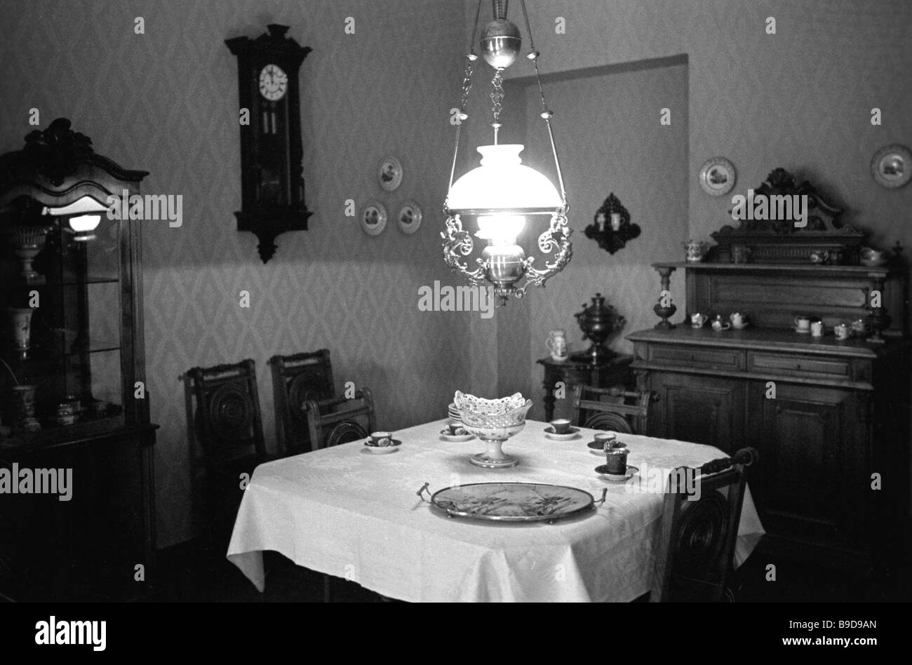 The Dostoyevskys dining room in the memorial museum of Fyodor Dostoyevsky The writer lived in this house 5 2 at - Stock Image