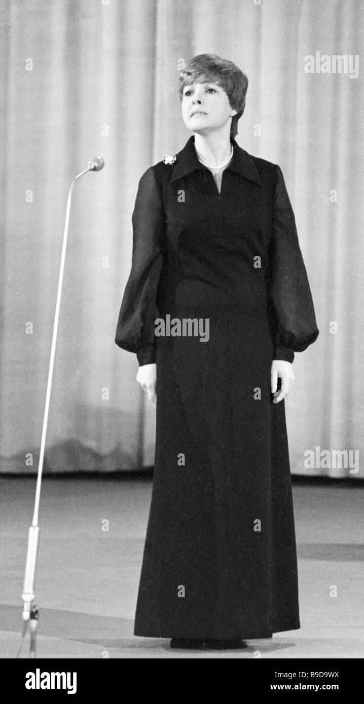 Poetess Bella Akhmadulina has a recital - Stock Image