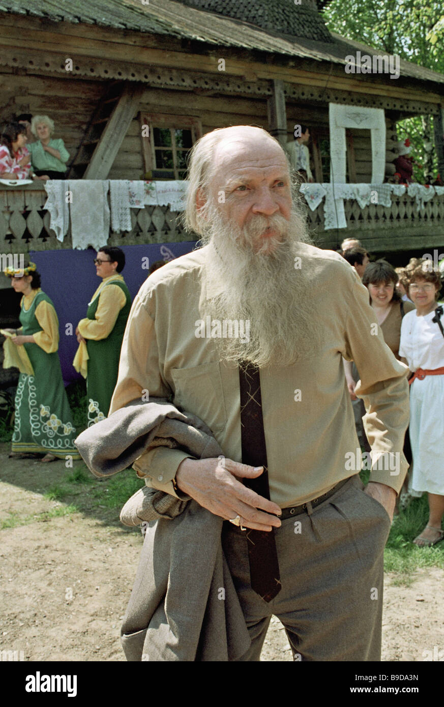 Nikolai Tolstoy full member of the Russian Academy of Sciences Philology attending the Slavic Alphabet and Culture - Stock Image