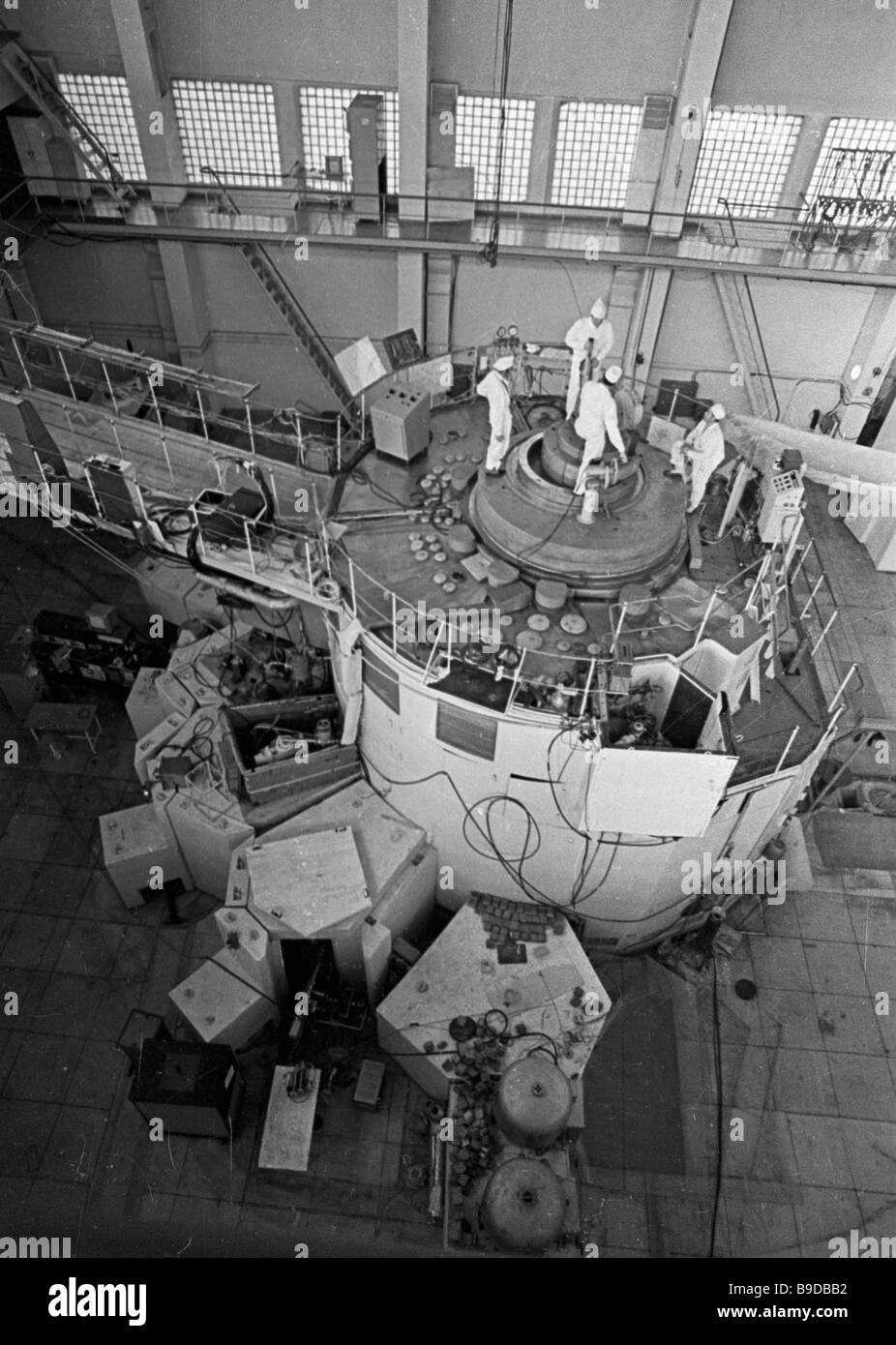 Nuclear reactor at the Nuclear Physics Institute of the Kazakh SSR Stock Photo