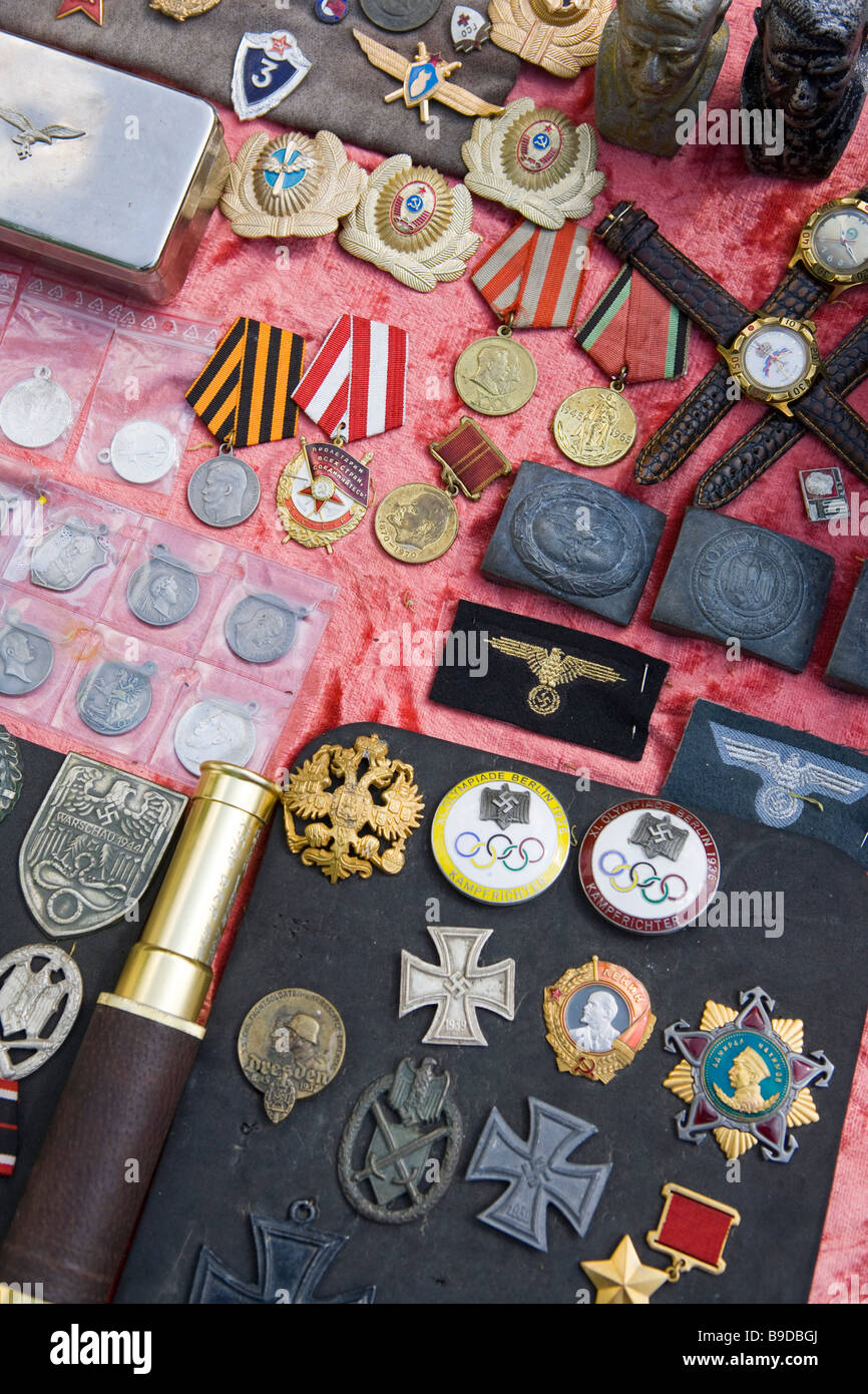 Aleksander Nevski church market Memorabilia Bulgaria Sofia - Stock Image