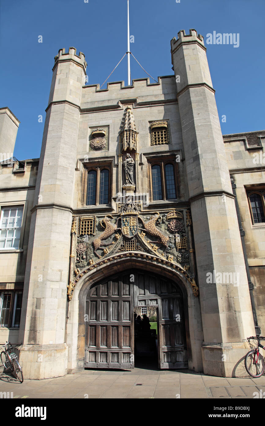 Gateway Christs College Cambridge England - Stock Image