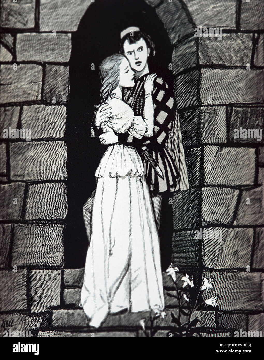An illustration by Dementy Shmarinov 1907 1999 to William Shakespeare s tragedy Romeo and Juliet - Stock Image
