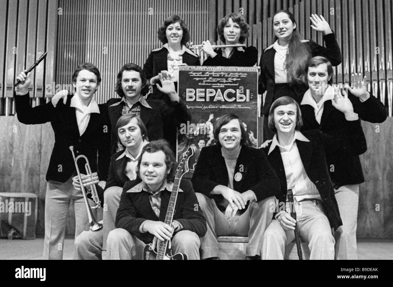 Members of the Verasy pop group Stock Photo