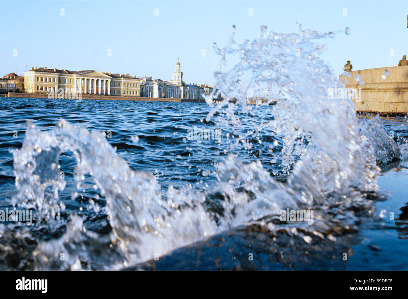 Peter I Museum of Anthropology and Ethnography Kunstkamera on the Neva River - Stock Image
