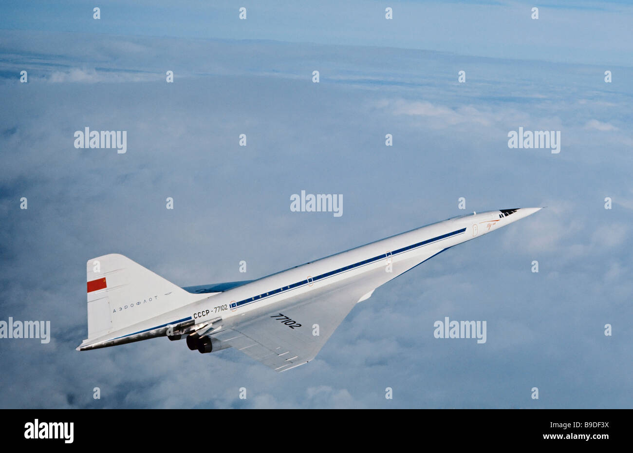 The supersonic TU 144 passenger jetliner - Stock Image