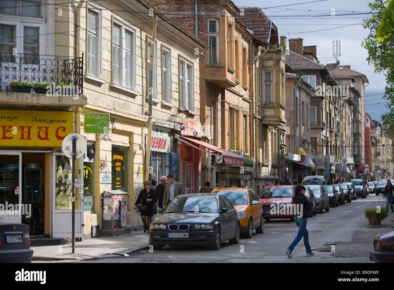 Tsar Shushman street Sofia Bulgaria Stock Photo