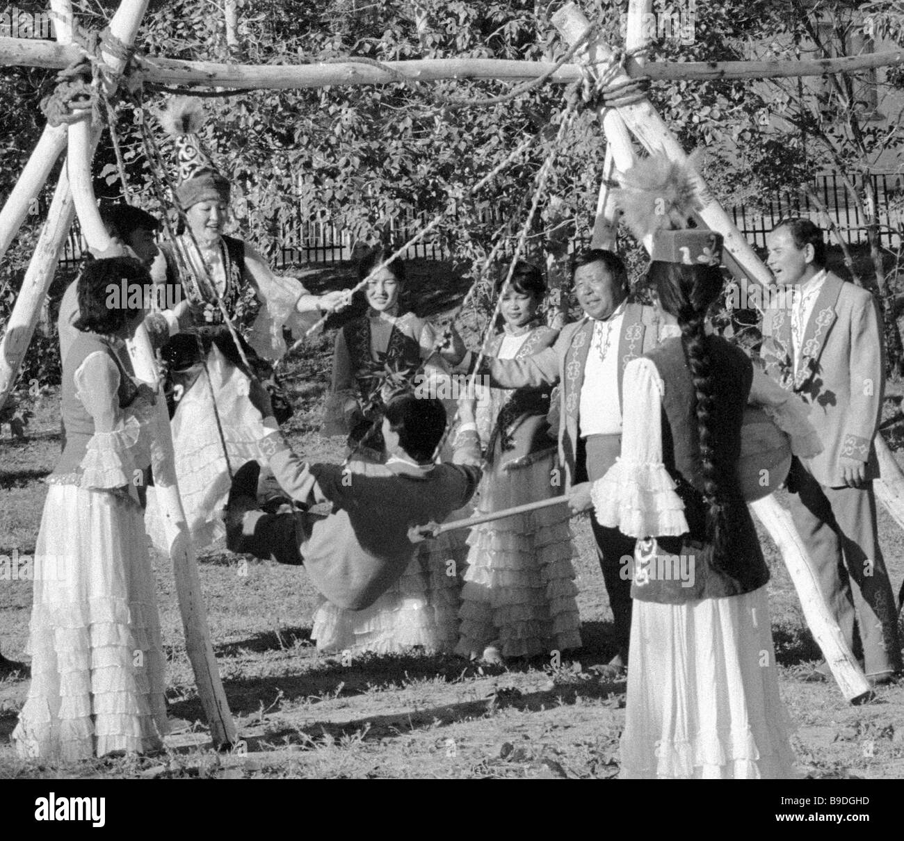 Strings of the Century folklore ethnographic ensemble - Stock Image