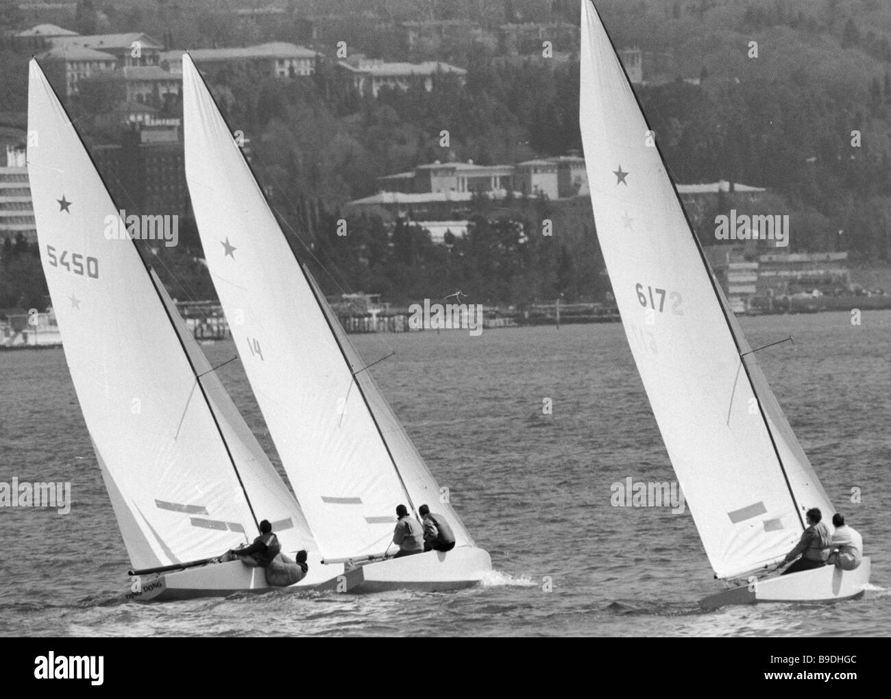 Yachting race in the Black Sea - Stock Image