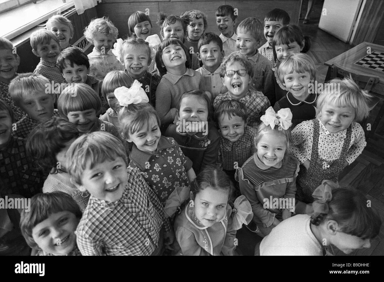 Zolotoi Petushok kindergarten charges - Stock Image