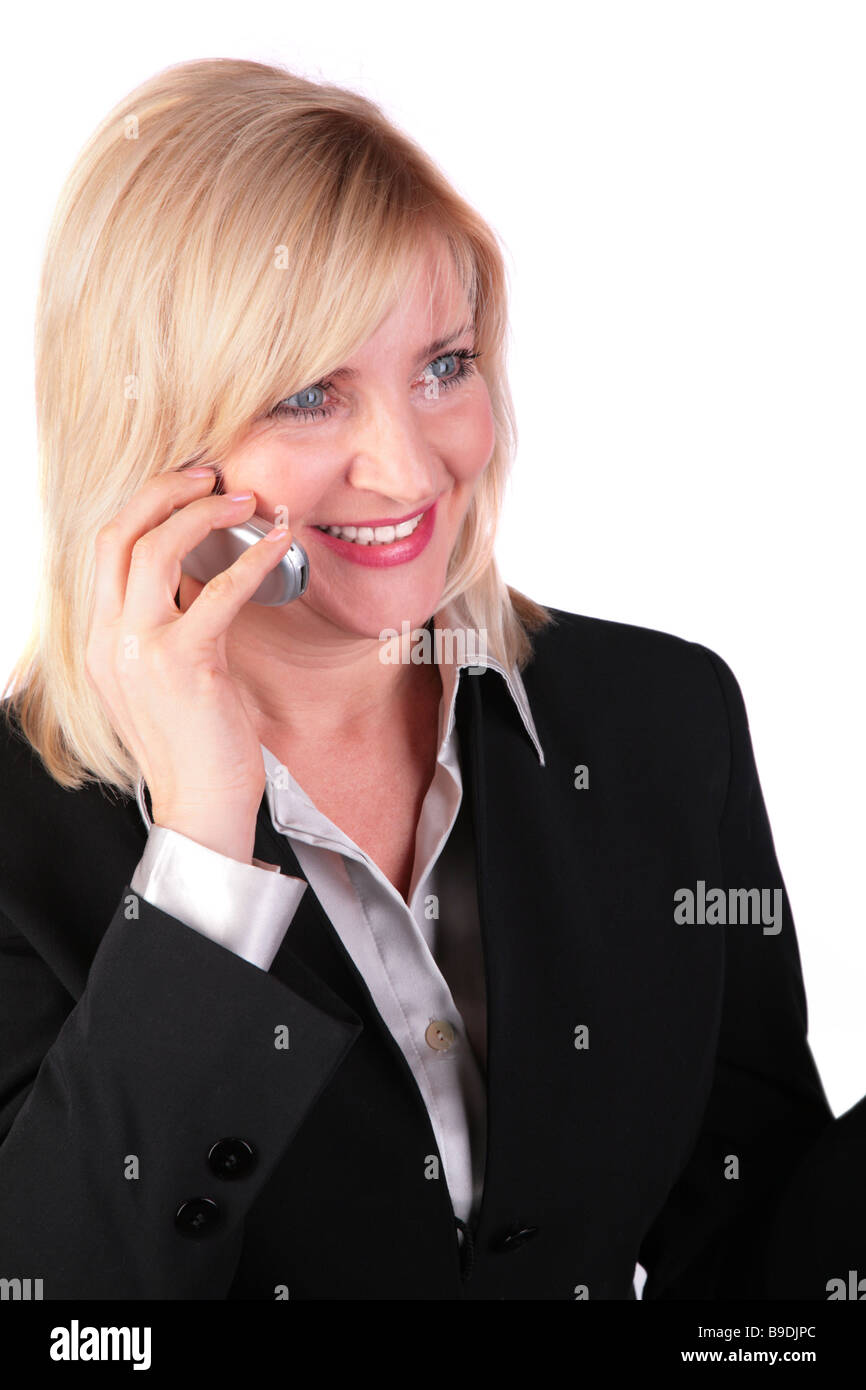 Middleaged businesswoman with cellphone 2 - Stock Image