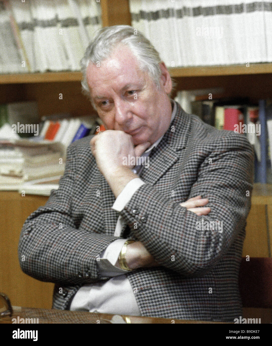 Nikolai Fedorenko editor in chief of the Inostrannaya Literatura Foreign Literature magazine and secretary of the - Stock Image