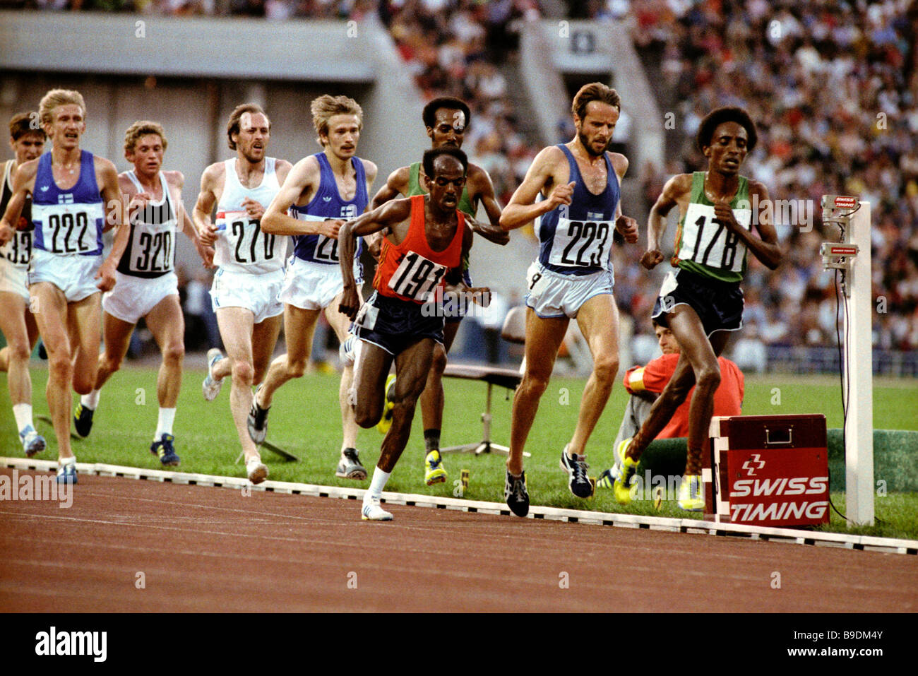 The 22nd Olympic Games in Moscow July August 1980 Mirus Ifter No 191 Ethiopia winner of the 10 000 meter and 5 000 - Stock Image