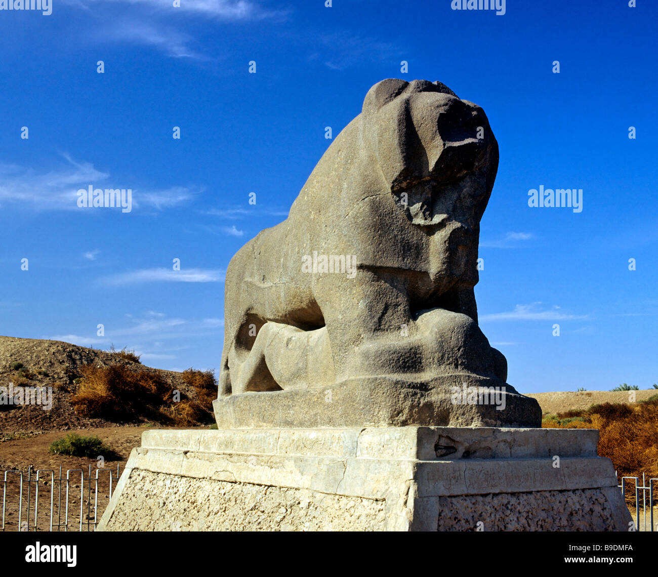 Lion of Babylon statue, Babil Province, Iraq, Middle East Stock Photo