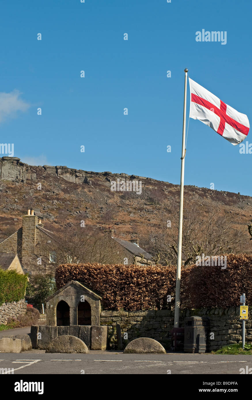 Curbar  village, 'Peak District', Derbyshire, England, 'Great Britain', 'United Kingdom' - Stock Image