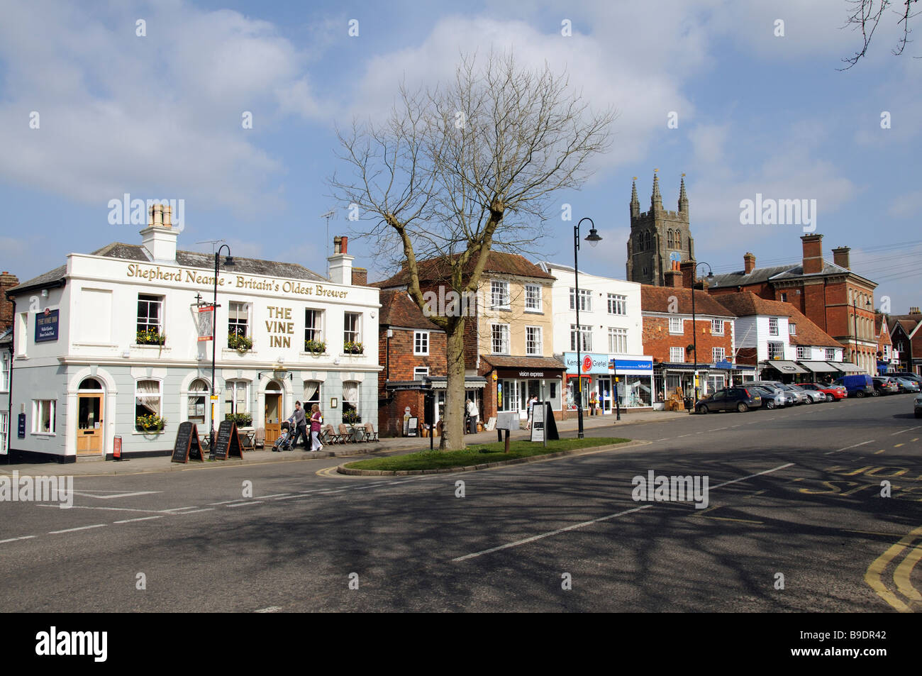 Tenterden an attractive market town in East Sussex southern England UK Close to the Kent border - Stock Image