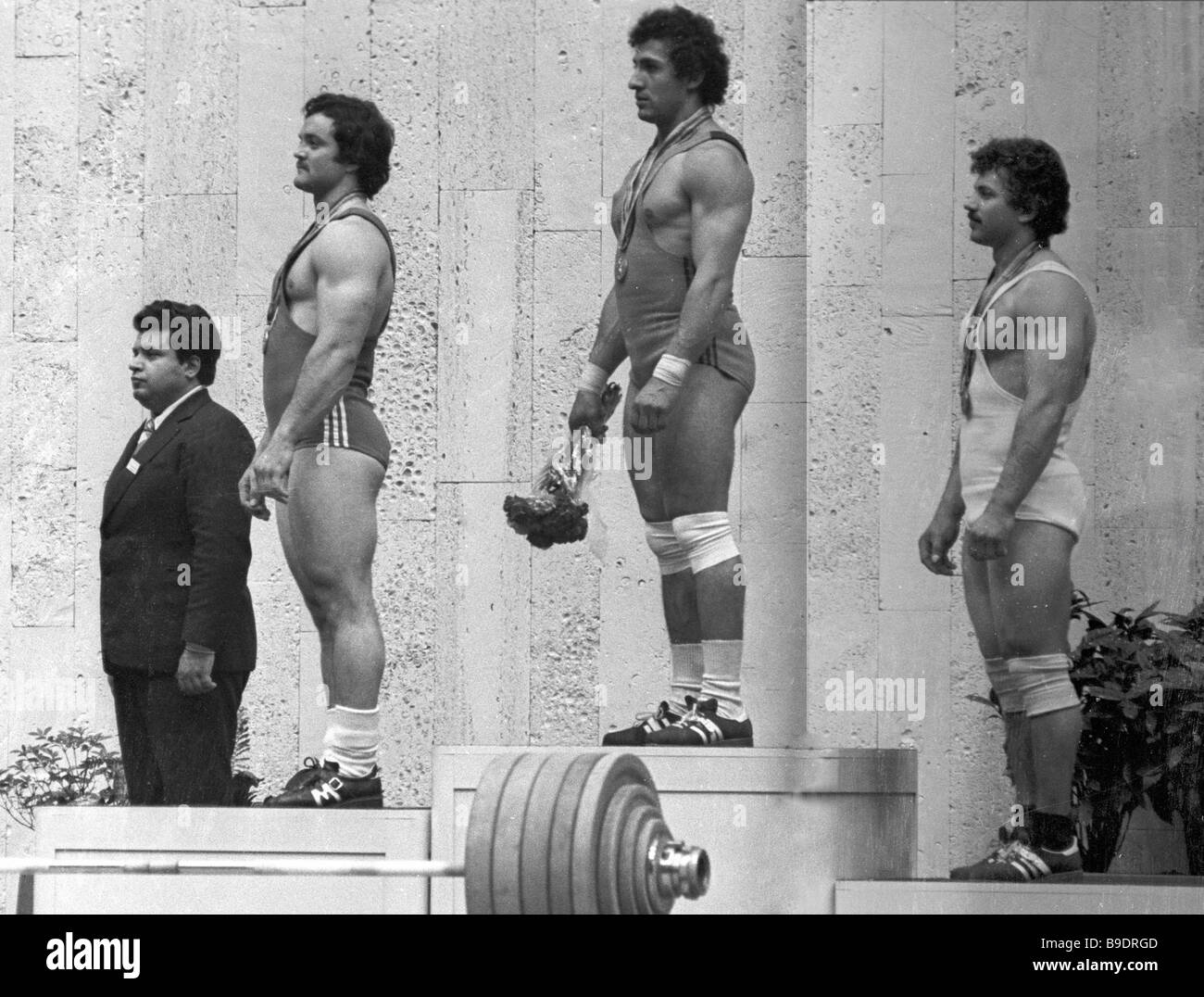 The weightlifters who won the 22nd Olympics in Moscow 1980