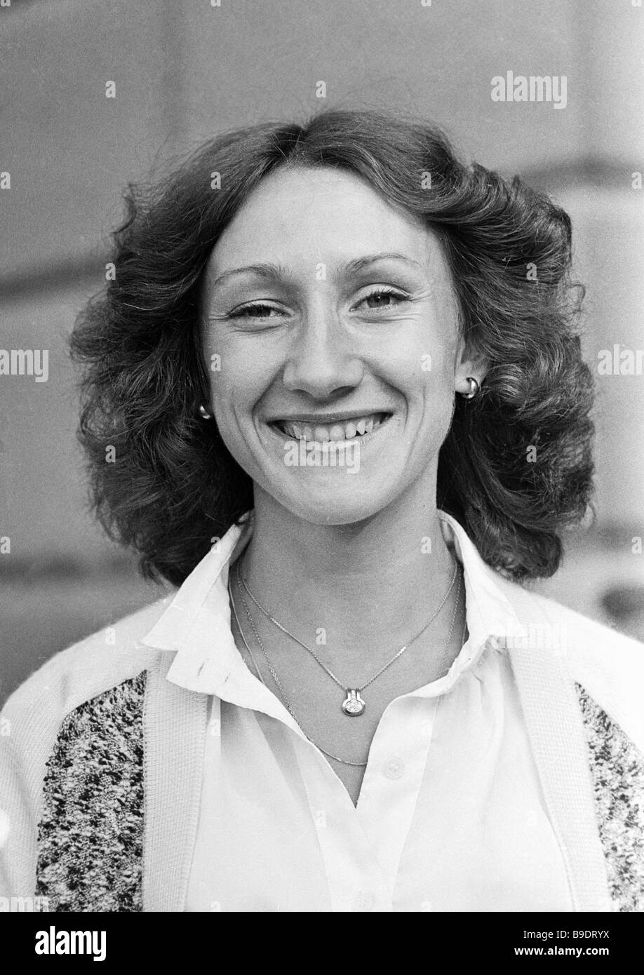 Tatiana Providokhina 1978 USSR and European champion in the 800 meter run and member of the Soviet track and field - Stock Image