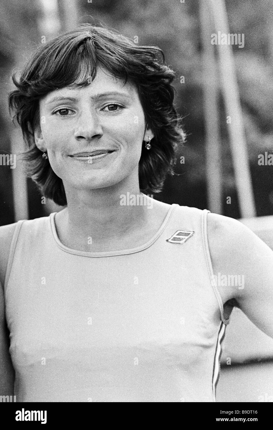 Nadezhda Poryvkina 1979 USSR champion in the 800 meter run - Stock Image