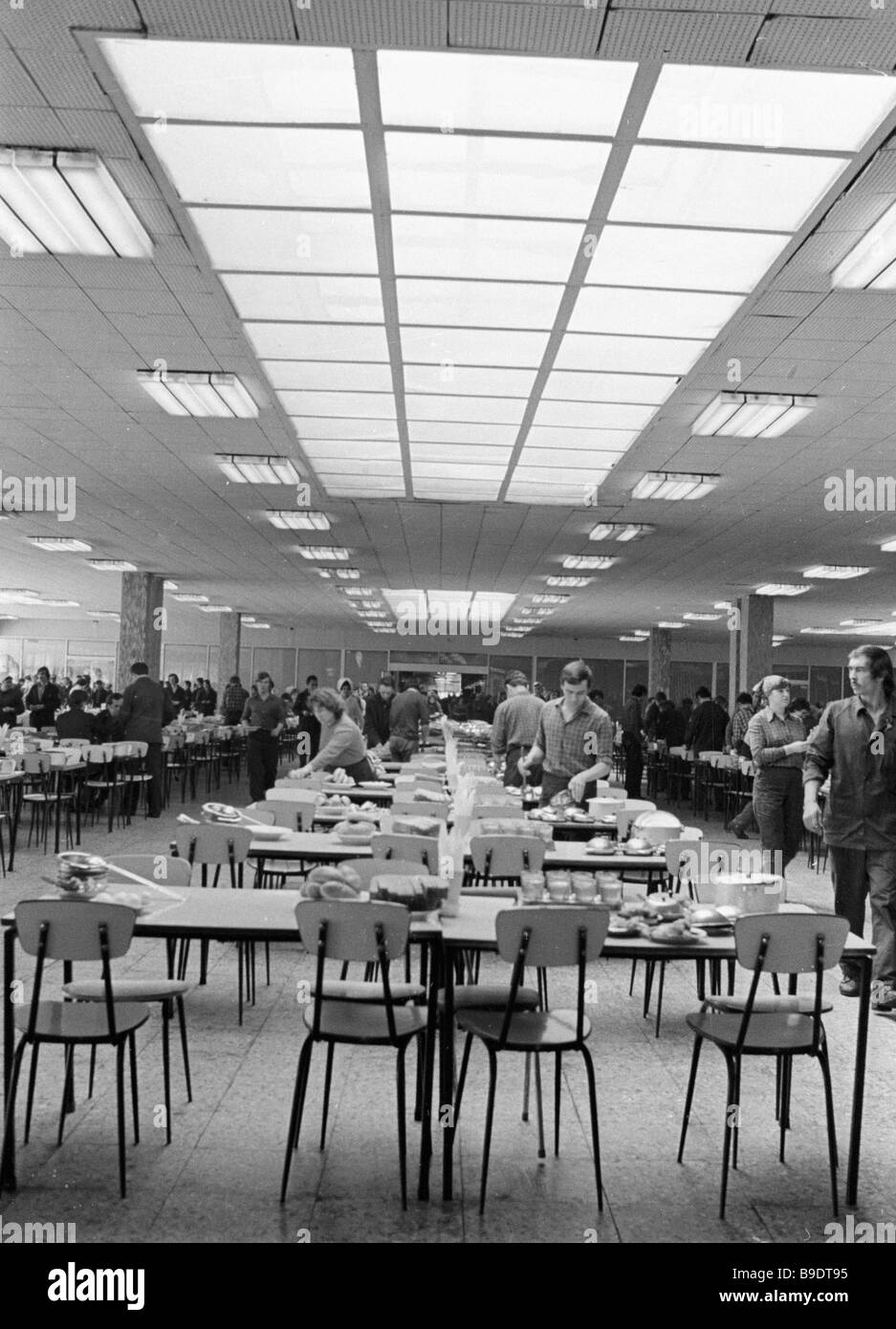 In the canteen of the Volzhsky automobile plant Stock Photo