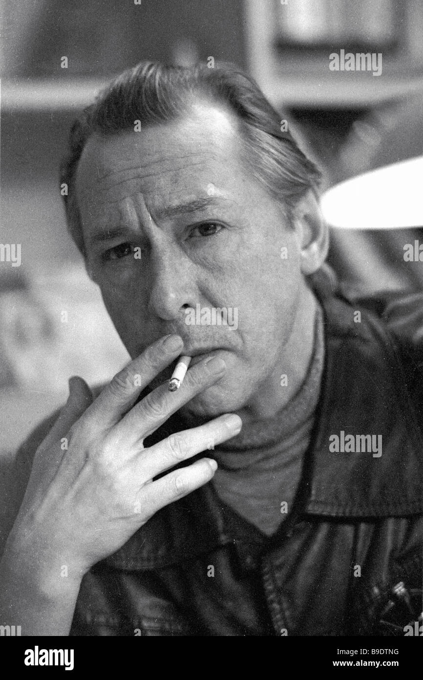 MKhAT director Oleg Yefremov People s Artist of the USSR and winner of the USSR State Prizes - Stock Image
