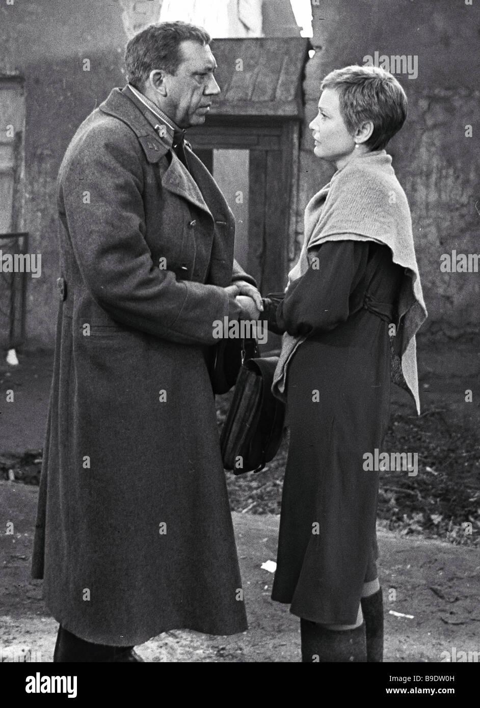 Twenty Days Without War screen version of Konstantin Simonov s novella Lopatin s Notes Alexei German director A - Stock Image