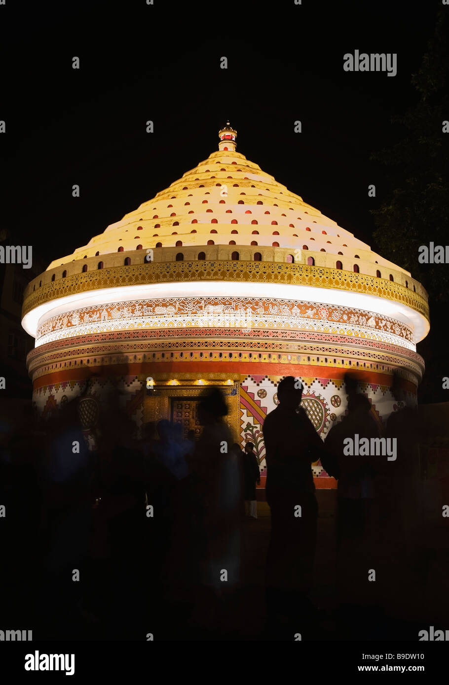 Pandal stock photos pandal stock images alamy group of people in a durga puja pandal kolkata west bengal india thecheapjerseys Choice Image