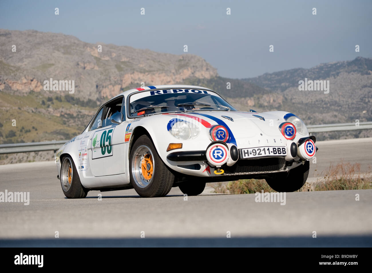 1969 Renault Alpine A 110 Racing in the Classic car rally Mallorca Stock Photo
