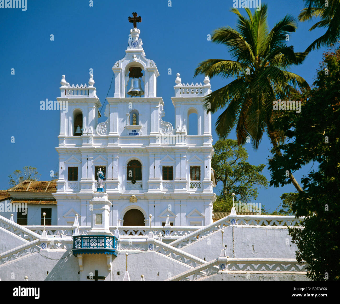 Church of the Immaculate Conception in Panaji, Church of St. Mary, cathedral, Goa, India - Stock Image