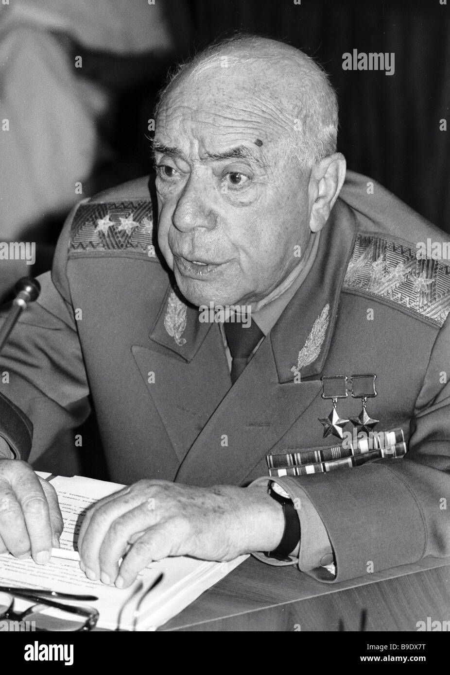 Chairman of the Soviet Public Anti Zionist Committee Colonel General Dmitry Dragunsky - Stock Image