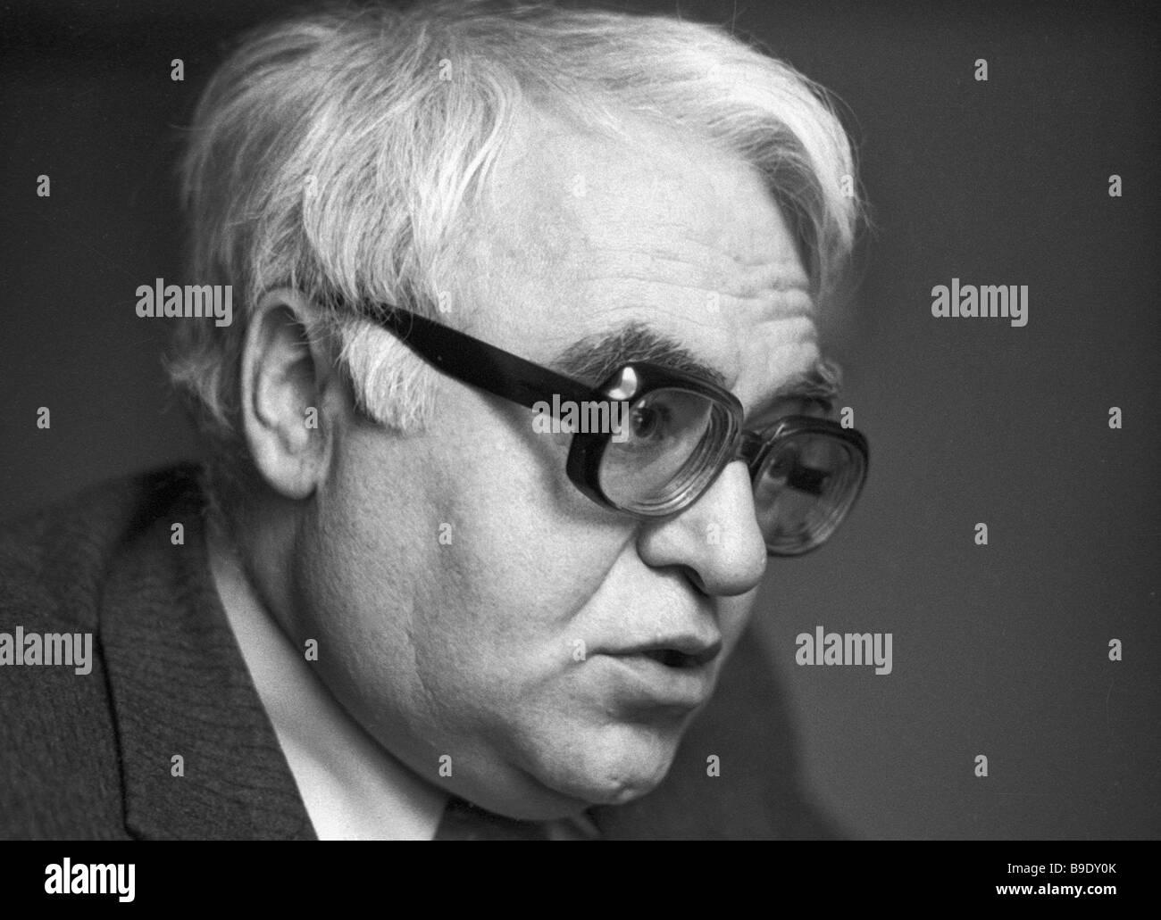 Playwright Mikhail Shatrov - Stock Image